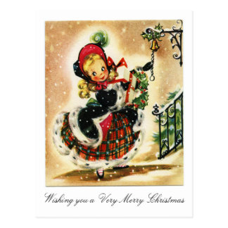 Victorian Very Merry Christmas Postcard