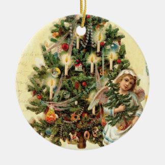 Victorian Vintage Angel Christmas Tree Ornament