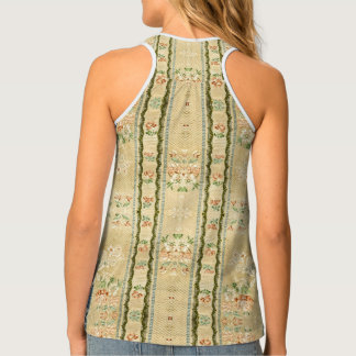 Victorian Vintage Embroidery Flowers Tank Top