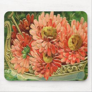 Victorian Vintage Floral Arrangement Mousepad