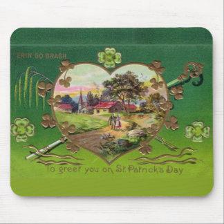Victorian Vintage Retro Irish St. Patrick's Day Mouse Pad