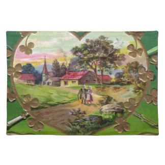 Victorian Vintage Retro Irish St. Patrick's Day Placemat