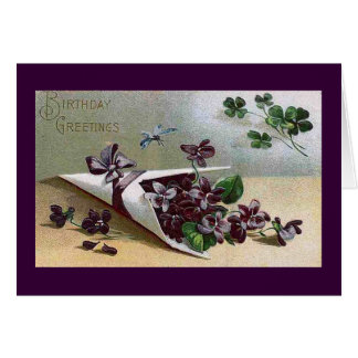Victorian Violets Card