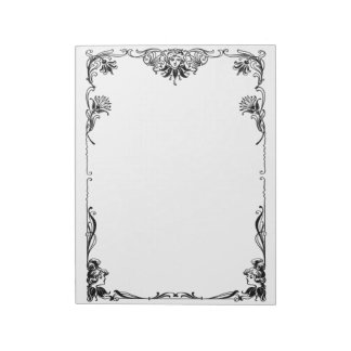 Victorian Visage and Vines border Notepad