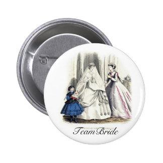 Victorian Wedding 6 Cm Round Badge