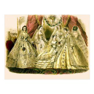 Victorian Wedding Postcard