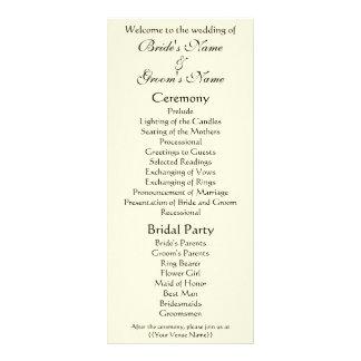 Victorian Wedding Program, The Kiss, Gustav Klimt Rack Card