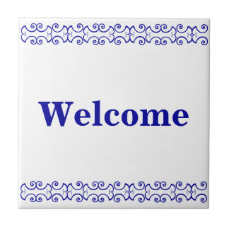 Victorian Welcome Sign Tile