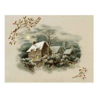 Victorian Winter Scene Postcard