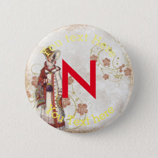 Victorian Woman 6 Cm Round Badge