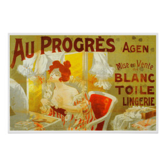 Victorian woman bedroom makeup French Poster