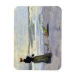Victorian Woman Beside Water Flexible Magnets