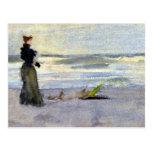 Victorian Woman Beside Water Postcard