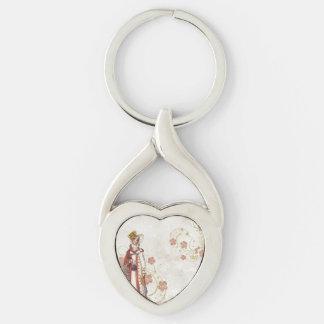 Victorian Woman Key Ring