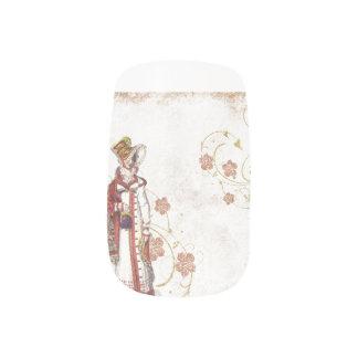 Victorian Woman Minx Nail Art