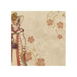 Victorian Woman Wood Wall Decor