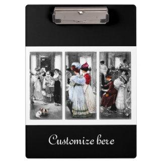 Victorian Women Shopping Vintage Clipboard