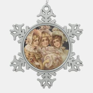 Victorian Women Vintage Christmas Tree Ornament