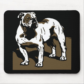 Victorian Woodcut English  Bulldog Mousepad