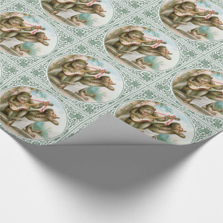 Victorian Wrapping Paper - Musical Monkeys