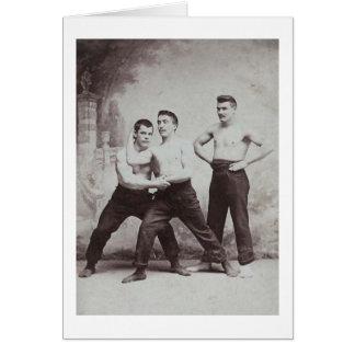 Victorian Wrestlers Card