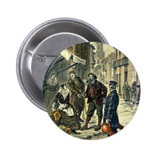 Victorians at the Market Vintage Illustration Pins
