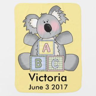 Victoria's Personalized Koala Baby Blanket