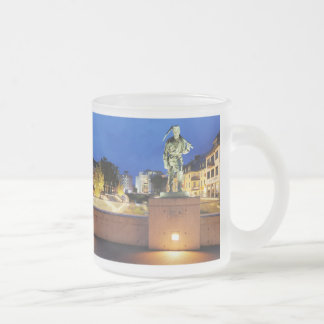 Victories miner Henner on the victory bank Frosted Glass Coffee Mug
