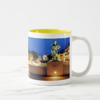 Victories miner Henner on the victory bank Two-Tone Coffee Mug