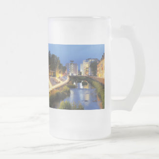 Victories victory banks to the blue hour frosted glass beer mug