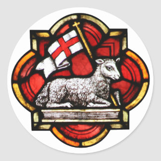 Victorious Lamb Round Sticker