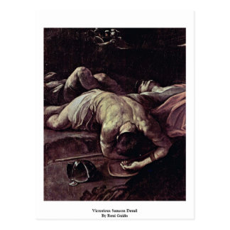 Victorious Samson Detail By Reni Guido Postcard