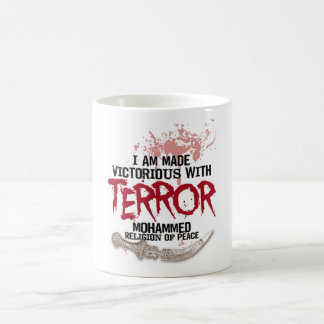 Victorious With Terror Basic White Mug
