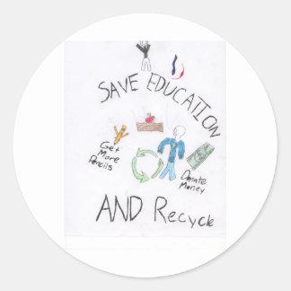 VictorSave1 Round Sticker