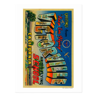 Victorville, California - Army Flying School Postcard