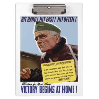 Victory Begins At Home -- Bull Halsey Clipboard