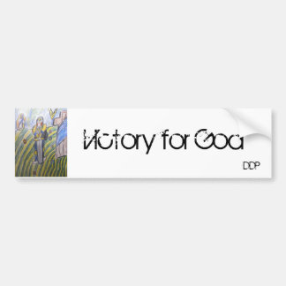 Victory for god bumper sticker
