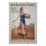 Victory Garden Liberty Sow Seeds WWI Propaganda Poster
