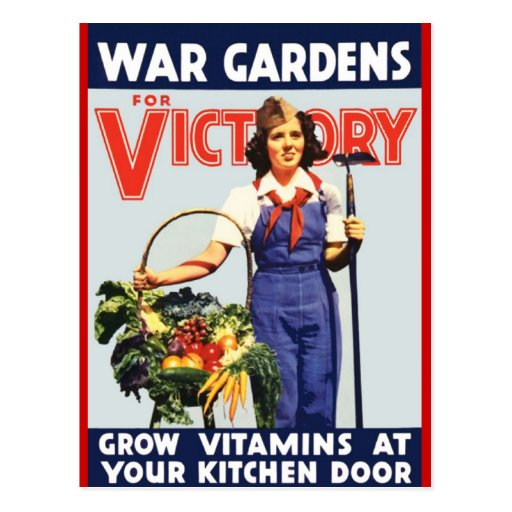 Victory Garden Postcard Zazzle