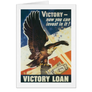 Victory - Now You Can Invest In It! Greeting Card