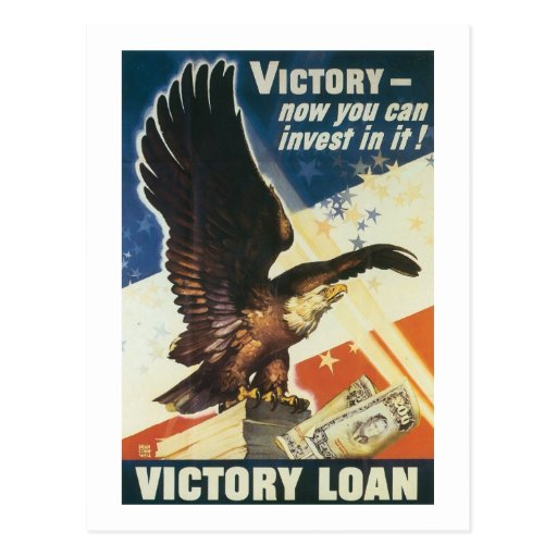 Victory - Now You Can Invest In It! Post Card
