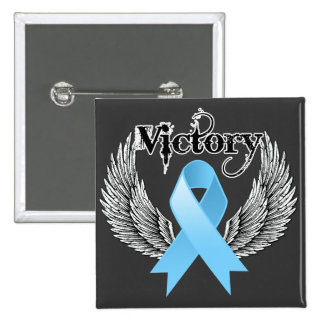 Victory Wings - Prostate Cancer 15 Cm Square Badge