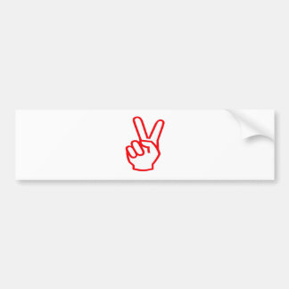 VICTORY Winner Sale Force Motivation Symbol Bumper Sticker