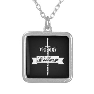 Victory with Hillary - 2016 Silver Plated Necklace