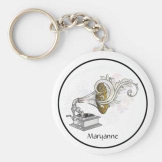 Victrola Swirls Keychain