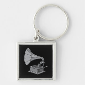 Victrola ~ Vintage Antique Record Player Key Ring