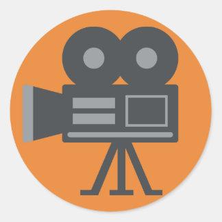 Video Camera Emoji Classic Round Sticker