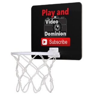 Video Dominion YouTube channel Play and Subscribe Mini Basketball Hoop