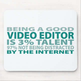 Video Editor 3% Talent Mouse Pad