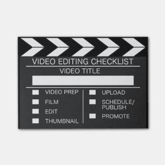 Video Editors Checklist Post-its Post-it Notes